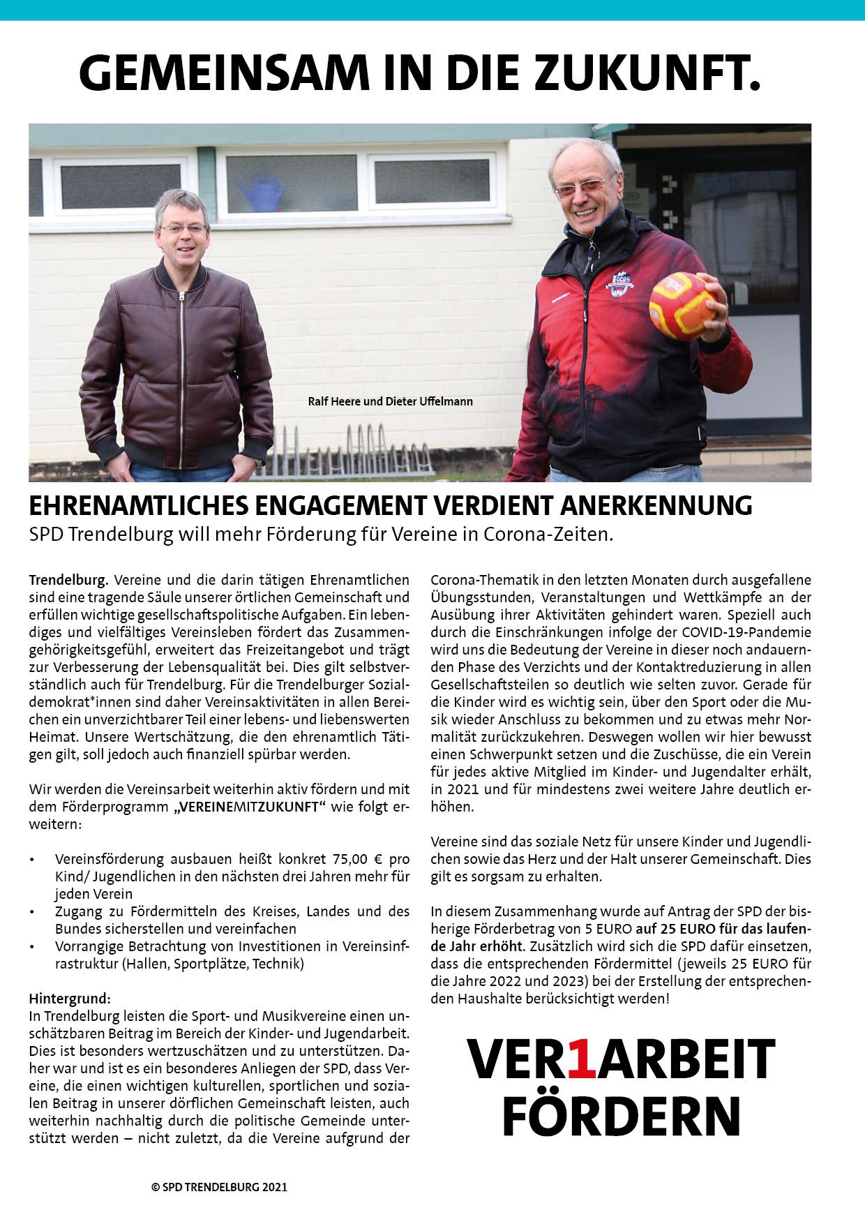 Vereinsarbeit in Trendelburg