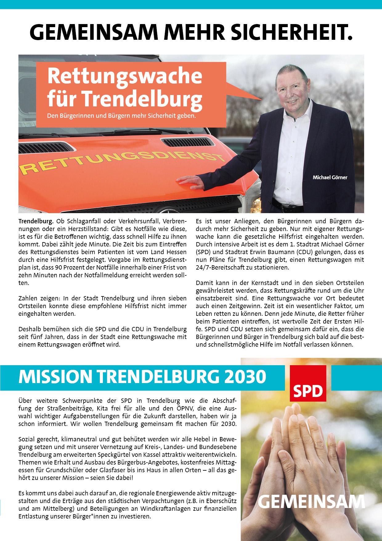 Rettungswache für Trendelburg